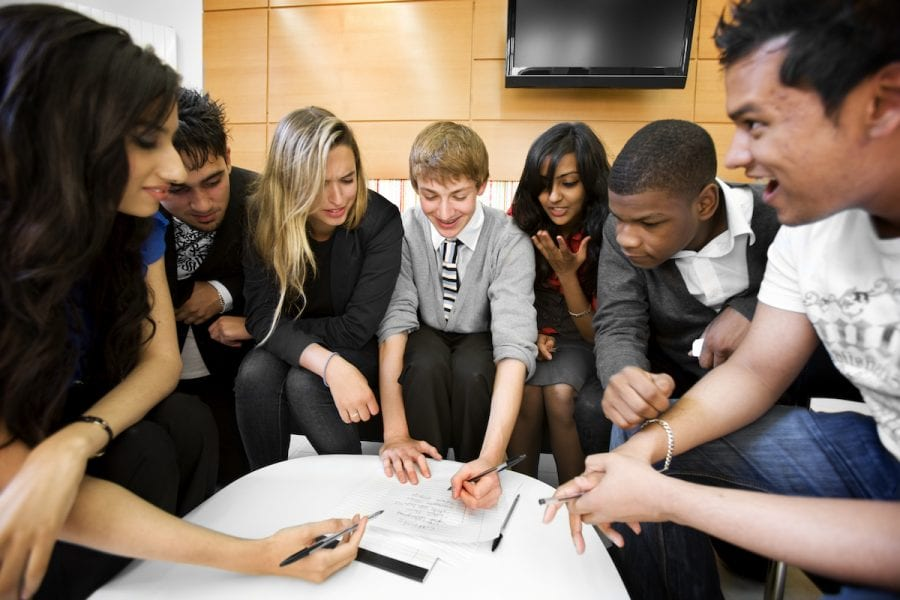 further education: group work